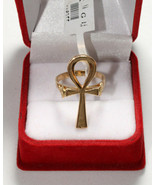Egyptian Gold 18K Ring Stamped Pharaonic Ankh Cross Key of Life 5 Gr all sizes - $606.25