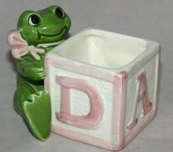 Vintage Fitz and Floyd Frog Baby Block Planter Omnibus 1984 Fitz & Floyd... - $12.99