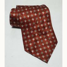 "Van Heusen Men Dress Sill Tie Made in USA Brown 3.5"" wide 60"" long  - $8.68"