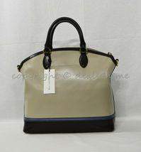 NWT Brahmin Large Duxbury Smooth Leather Satchel/Shoulder Bag in Sand Westport image 7