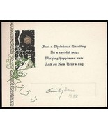 Antique Greeting Card Embossed Lithographic Art Design House Moon Art 1928 - $18.99