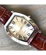 SKC Unisex Quartz Watch Roman Numerals Genuine Leather Band - $8.15