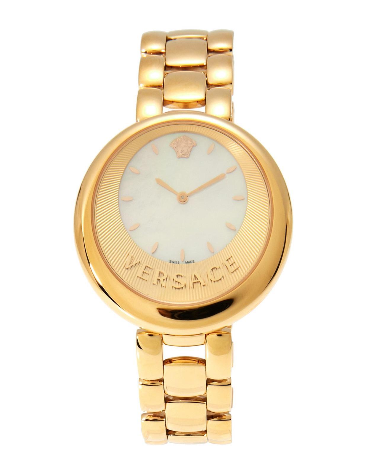 Versace VAQ080016 Perpetuelle Mop Gold Dial Ladies Watch