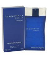 Apparition Cobalt by Ungaro Eau De Toilette Spray 3 oz for Men #480214 - $29.39