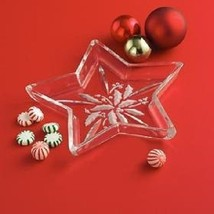 Lenox Etched Holly Berry, Star Shaped Candy Dish - $44.00