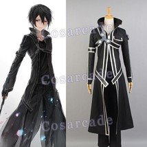 Sword Art Online SAO Kazuto Kirigaya Kirito Cosplay Costume Suit Coat Outfit Set - $57.03+
