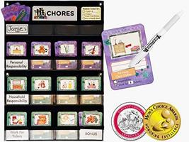 NEATLINGS Chore Chart System | 1 Child | 80+ Chores | Teal & Purple Cards - $38.95