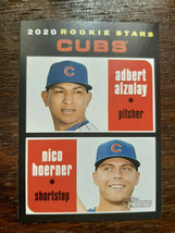 2020 Topps Heritage Rookie Stars #121 Nico Hoerner & Adbert Alzolay Chicago Cubs - $1.99