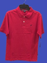 NAUTICA Red Collared Shirt Polo Shirt Boys Size L(14-16) - NWT - $17.59
