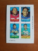 1969 Topps 4 In 1 FB Card w/ LARRY CSONKA DOLPHINS / MIX / NANCE PATRIOTS  - $12.38
