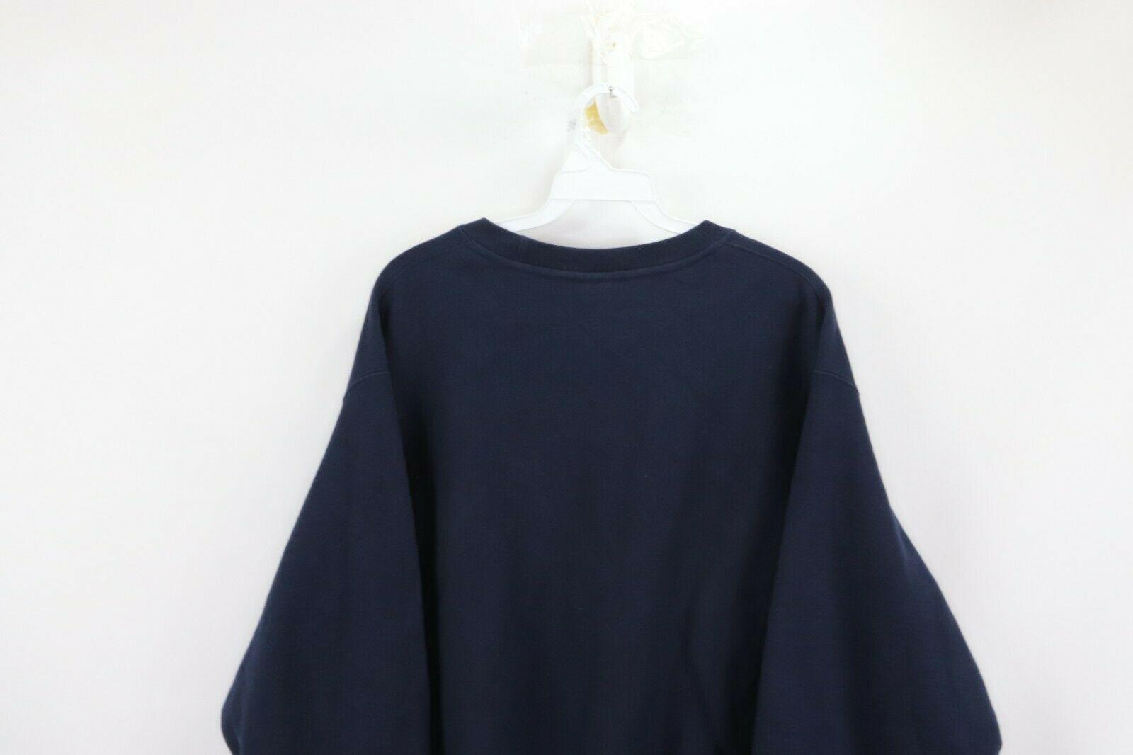 Champion Reverse Weave Mens Large Optimize Spell Out Crewneck Sweatshirt Blue image 9