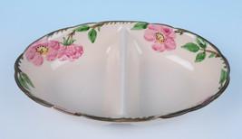 """Vintage Franciscan Desert Rose 10"""" Oval Divided Vegetable Serving Bowl USA - $14.52"""