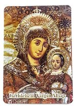"Bethlehem Virgin Mary and Baby Jesus 2D Icon Magnet Holy Land Keepsake 3.9"" - €3,37 EUR"