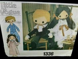 Vogue 1336 Boy Girl Doll Clothes 32 inch dress pantaloons suit shirt paj... - $10.88