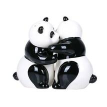 Hugging Panda Magnetic Ceramic Salt and Pepper Shakers Set - £10.04 GBP