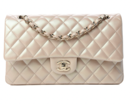 Chanel Iridescent Quilted Medium Double Flap Beige - $8,965.00