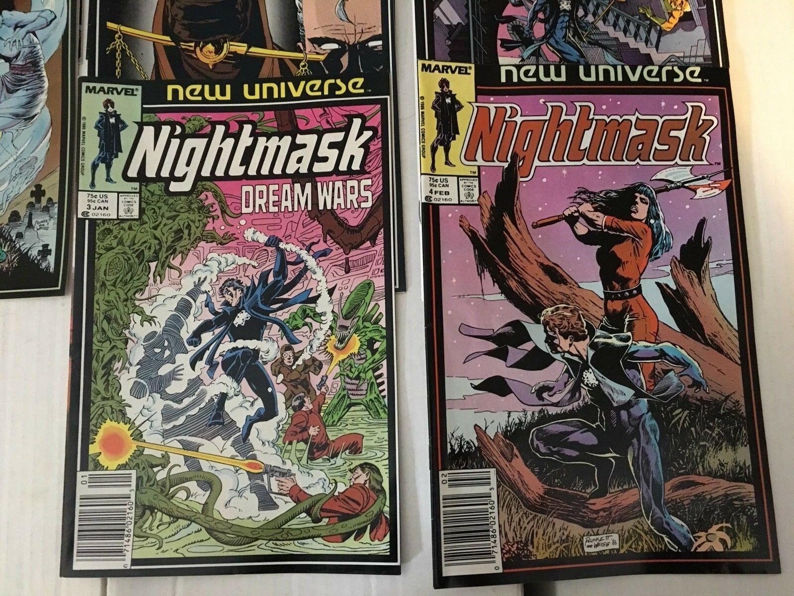 Nightmask 1 - 12 New Universe Marvel Comic Book COMPLETE SET 1986-87 VF+