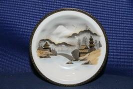 "Vintage hand painted KUTANI China MT FUJI JAPAN 7-3/4"" bowl soup bowl - $12.39"