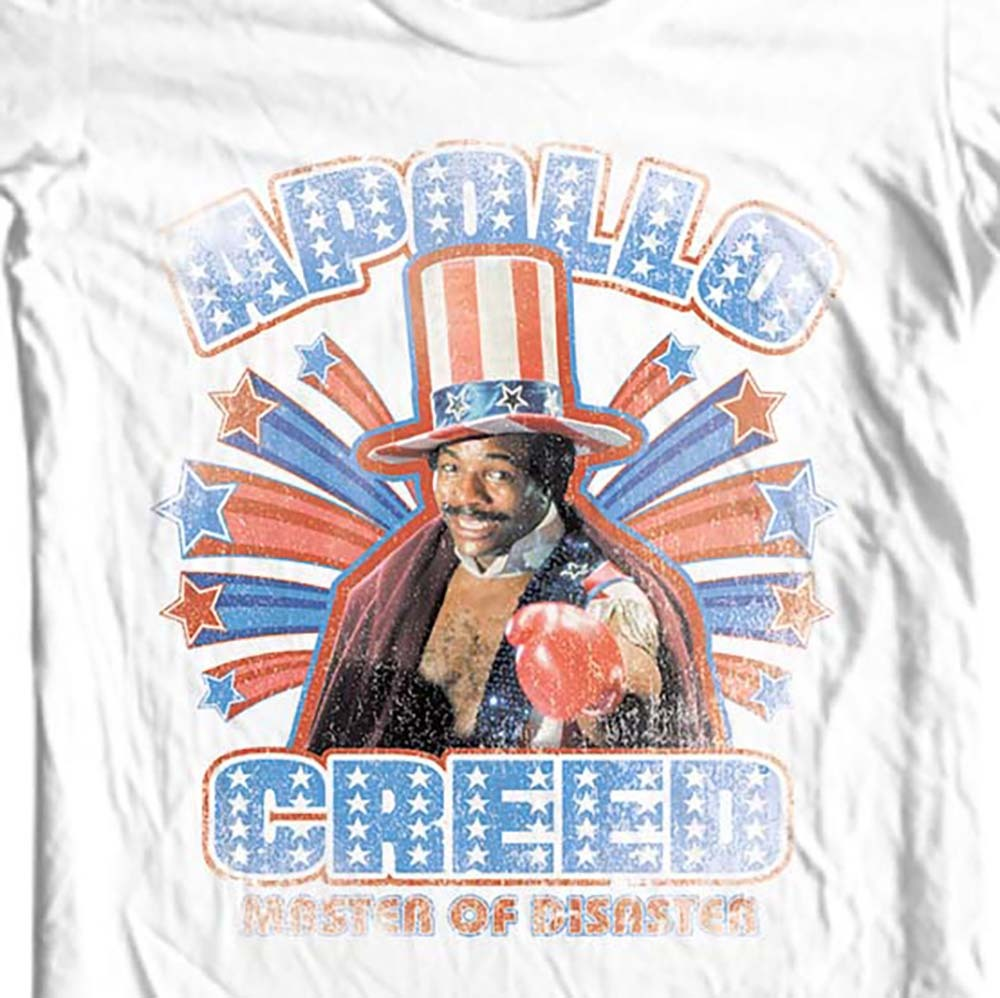 Apollo creed rocky balboa moive 80 s t shirt online t shirt store for sale