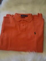 Polo Ralph Lauren - Mens Large Orange Custom Fit Short Sleeve Polo Shirt Size M - $49.49
