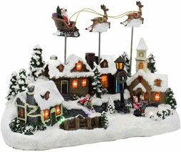 Kurt Adler C5605 Battery Operated Musical LED Village with Santa and Dee... - $94.97