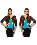 Iman Global Chic Bronze Rock The Runway Sensational Sequin Sweater - Siz... - $69.95