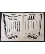 "1925 French Print Ad Waterman Pen, Jif Pencil 15 3/4"", L'Illustration Ma... - $24.65"
