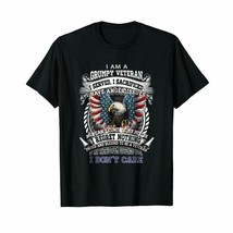 I Am A Grumpy Veteran T-Shirt Eagle Ameri T-Shirt Men Short Sleeve Birth... - $14.89+