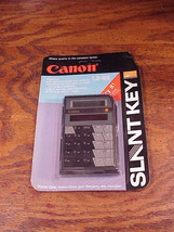 Canon Slant Key Solar LCD Black Calculator Model LS-52, unopened, new ol... - $11.95