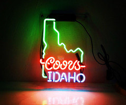 "New Coors Idaho Handcraft Home Wall Man Cave Lamp Art Sign Neon Sign 11"" by 7"" - $59.00"