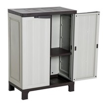 Utility Cabinet Cupboard Garden Storage Shed Tools Adjustable Shelves Pl... - $109.27