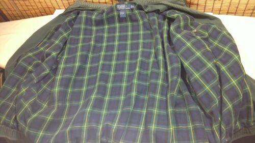 Polo Ralph Lauren Cotton Zip Jacket Green Coat Red Pony Liner Mens XL