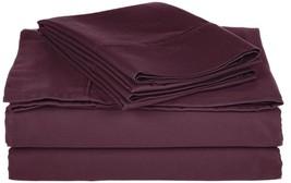 5-pc Split King Size Plum Impressions Cotton Rich 800 Thread Count Sheet... - $74.20