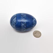 Fitz & Floyd Blue Porcelain Egg Shaped Trinket Box - $11.64