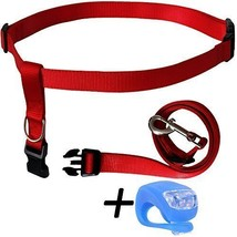 Red Running Dog Leash Hands Free with LED Light. Walking, Running, Jogging - $28.47