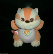 VINTAGE 1998 FISHER PRICE RATTLE ORANGE RACCOON ACORN STUFFED ANIMAL PLU... - $27.12