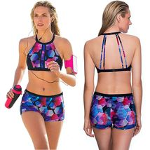 Women's Fashion Swimwear Padded Tankini Set Sporty with Boy Shorts Bikini Swimsu image 3