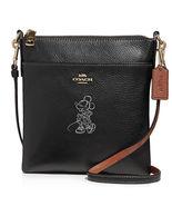 COACH Minnie Motif Messenger Crossbody Disney Leather ~NWT Black~ 37534 - $179.00