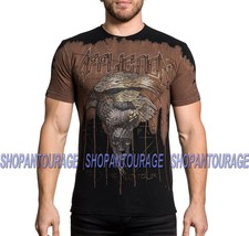 Affliction Eagle Rock A18786 New Short Sleeve Fashion Graphic T-shirt For Men - $49.95