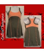 Bolle Tennis Dress with Shelf Bra Size M High Performance Gray/Peach - $15.84