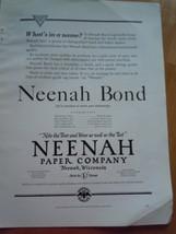 Vintage Neenah Paper Company Magazine Advertisement 1930 - $12.99