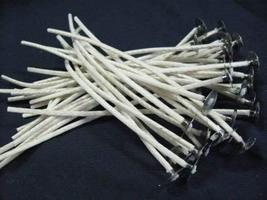 """Details About ECO 10 Cotton Core Pretabbed Wicks 6"""" Length Great in Soy ... - $10.19"""