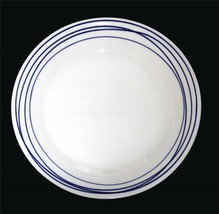 "4 Royal Doulton London 1815 Pacific Lines Blue & White 9.5"" Luncheon Pla... - $39.99"