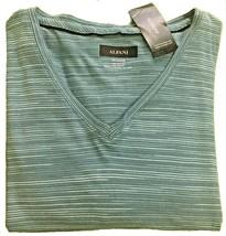 Alfani Mens V-Neck Space-Dyed T-Shirt Turquoise Mallard XXL - $18.69