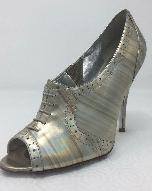 Jessica Simpson NICHOLA Metallic Booties heels Iridescent Patent leather 8.5