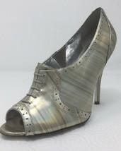 Jessica Simpson NICHOLA Metallic Booties heels Iridescent Patent leather 8.5 image 1