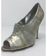 Jessica Simpson NICHOLA Metallic Booties heels Iridescent Patent leather... - $15.96