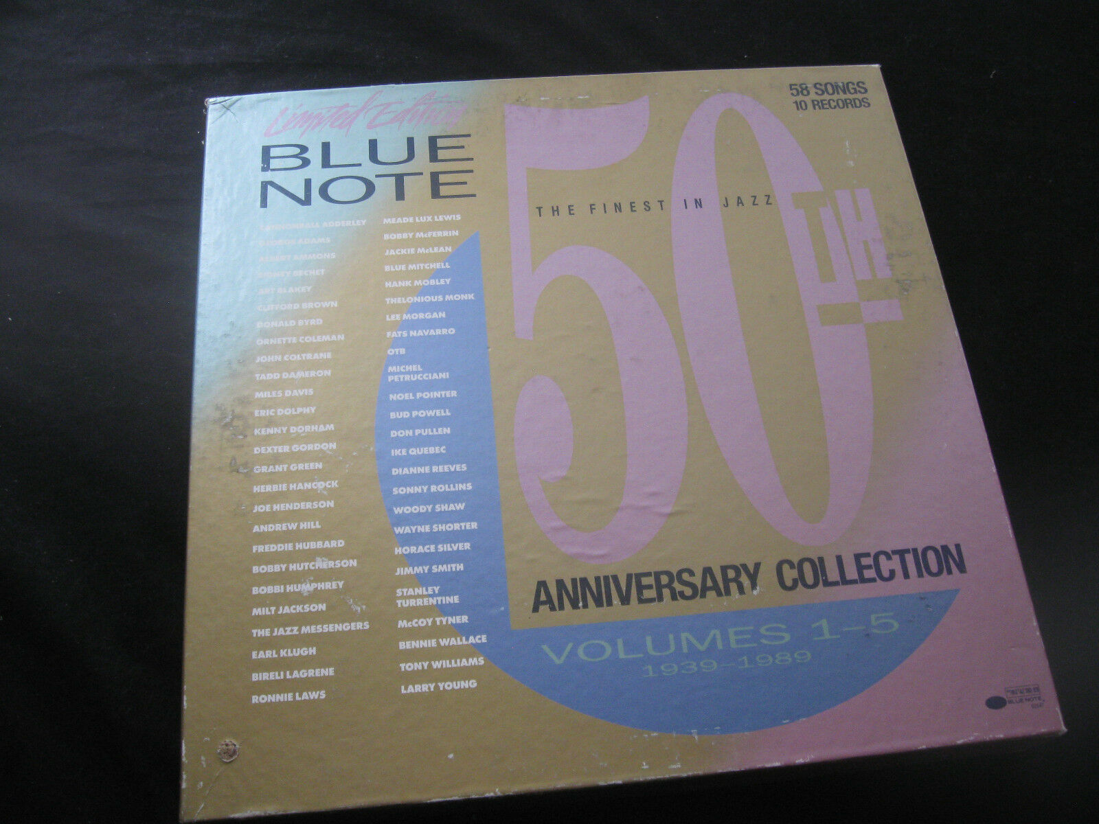 Blue Note 50th Anniversary Jazz 10 Record Box Set 92547 No 0102 Limited Ed RARE