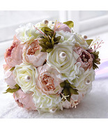 "Wedding Flowers Bouquets Wedding Bead Polyester Satin Foam 12.2""(Approx.... - $52.99"