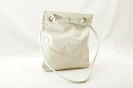 HERMES Canvas Arena PM Shoulder Bag White Auth 9957 - $360.00